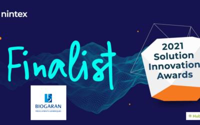 Biogaran nomméfinalistedesNintexSolution Innovation Awards2021