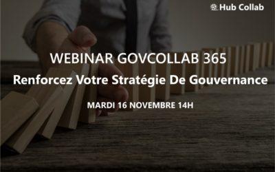 [Webinar] GovCollab 365 : renforcez votre stratégie de gouvernance
